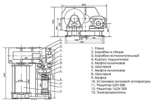 Маневровая лебедка железнодорожная в Украине
