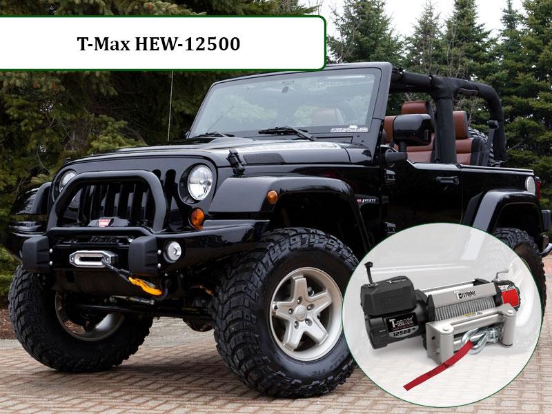 Автомобильная лебедка 12 вольт HEW-12500