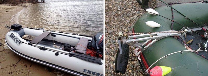 Якорная лебедка на лодке фото