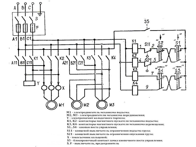 Схема электротали 380в