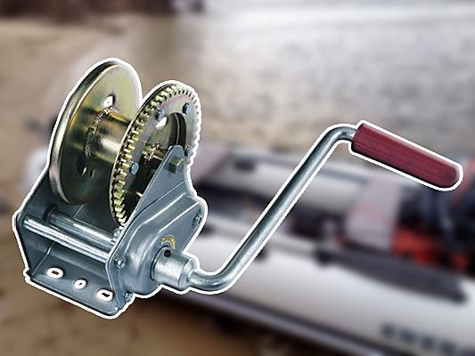 Барабанная лебедка для лодки